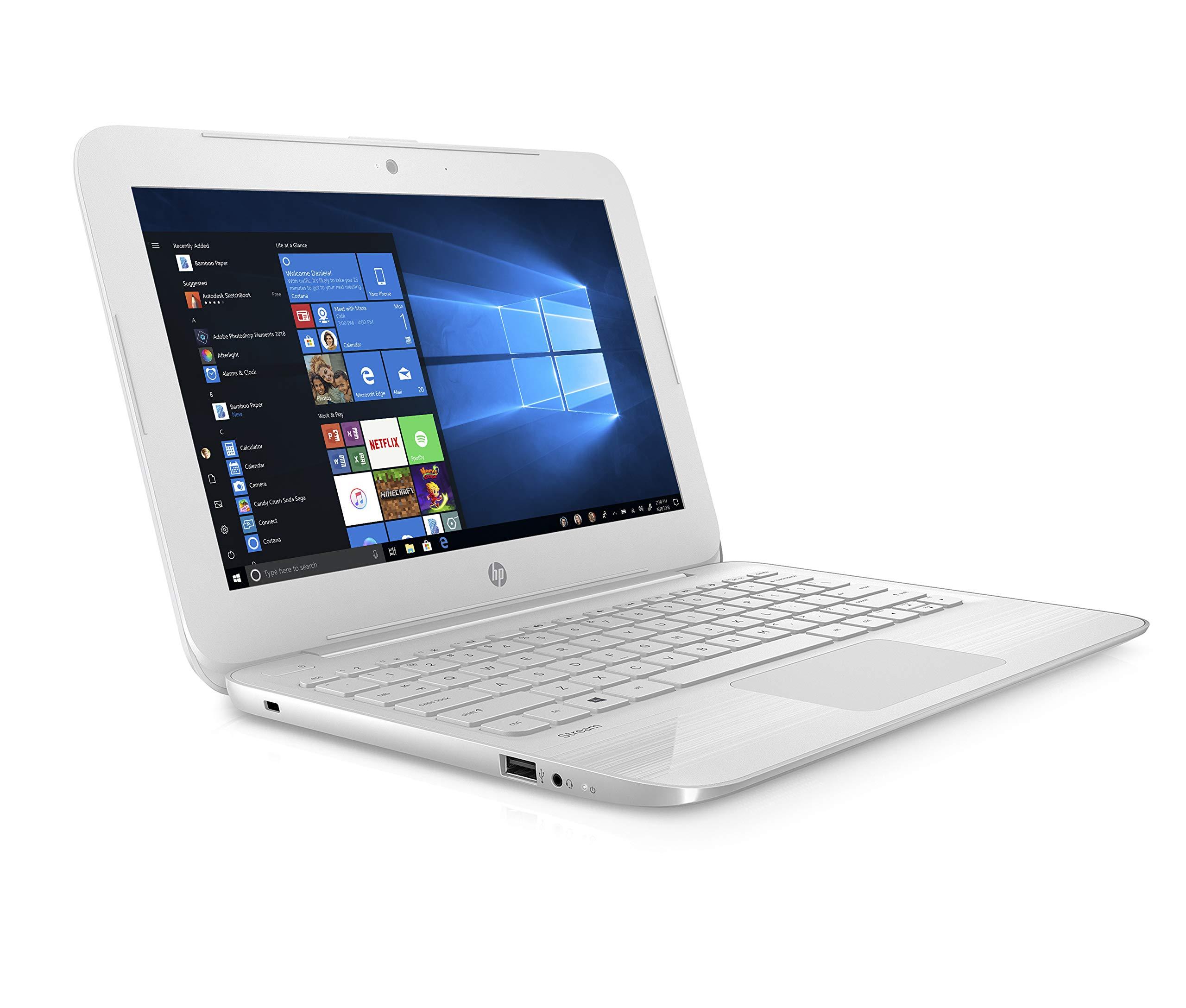 HP Stream 11-ah004na 11.6インチノートパソコン - (Intel Celeron N3060、2 GB RAM、32 GB eMMC、Office 365および1 1年間のサブスクリプション付きTB OneDriveクラウドストレージ、Windows 10ホーム)