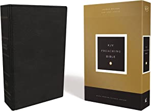 KJV, Preaching Bible, Premium Calfskin Leather, Black, Comfort Print: Holy Bible, King James Version