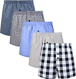 Sponsored Ad - Natural Feelings Mens Boxer Underwear Cotton Classic Woven Boxer Shorts for Men Pack