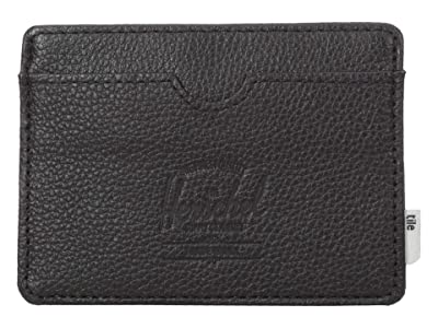 Herschel Supply Co. Charlie + Tile (Black Pebbled Leather) Wallet Handbags