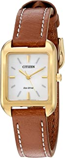 Women's Eco-Drive Goldtone Chandler Strap Watch