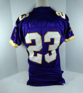 f46da3e98 2000 Minnesota Vikings  23 Game Issued Purple Jersey 40th Anniversary Patch  - Unsigned NFL Game