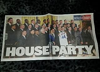 cubs newspaper framed