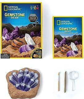 National Geographic Gemstone Dig Kit, Multi color, RTNGGEM