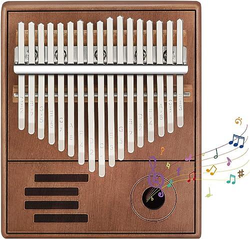 Kalimba Thumb Piano 17 Teclas con Instrucciones, Música Finger Piano Kalimba Instrumento Musical Portátil para Niños ...