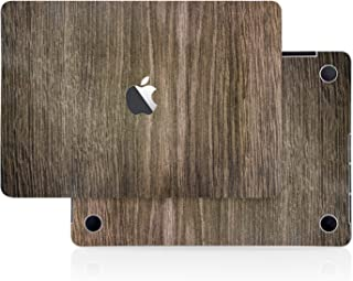 Brown Wood Texture Skin Decal (4-in-1) Full-Size 360° Protector Cover Apple MacBook Pro 15 Inch A1707 A1900 (2016 2017 2018 2019 Model with & w/o Touch Bar & ID) Black Keyboard Cover