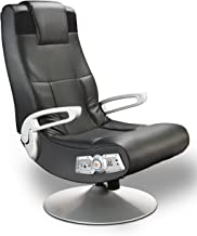 X Rocker SE 2.1 Black Leather Video Gaming Chair for Adult, Teen, and Kid Gamers with..