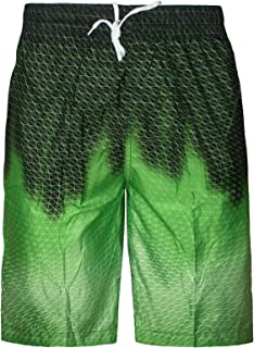 Unbranded Mens Boys Swimming Board Shorts Trunks Lined Zip Pockets Summer Beach Holiday
