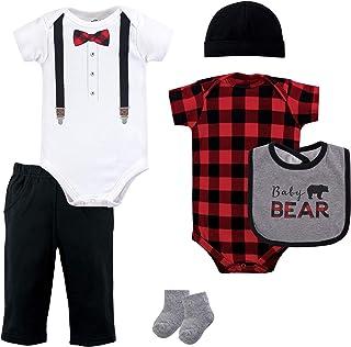 residentD /Unisex Baby Winter Plaid Waistcoat Fashions Set Warm Baby Clothes