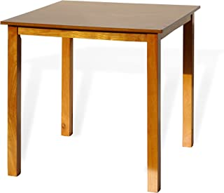 Dining Square Kitchen Table Contemporary Design Solid Wooden in Maple Finish