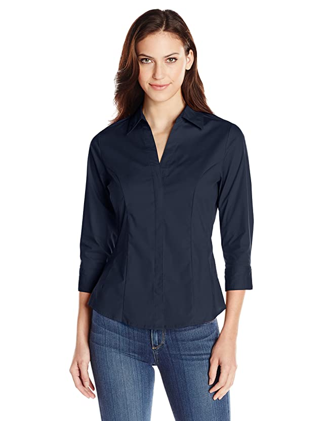 Riders by Lee Indigo Women's Easy Care ? Sleeve Woven Shirt