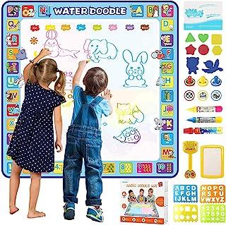 Tobeape® 100 X 100 cm Extra Large Aqua Magic Doodle Mat, Colorful Educational Water Drawing Doodling Mat Coloring Mat for ...