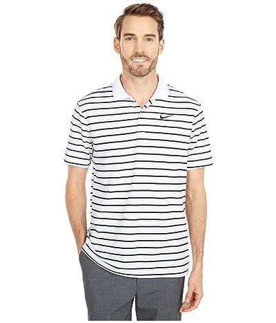 Nike Golf Dry Victory Polo Stripe (White/Pure Platinum/Black/Black) Men