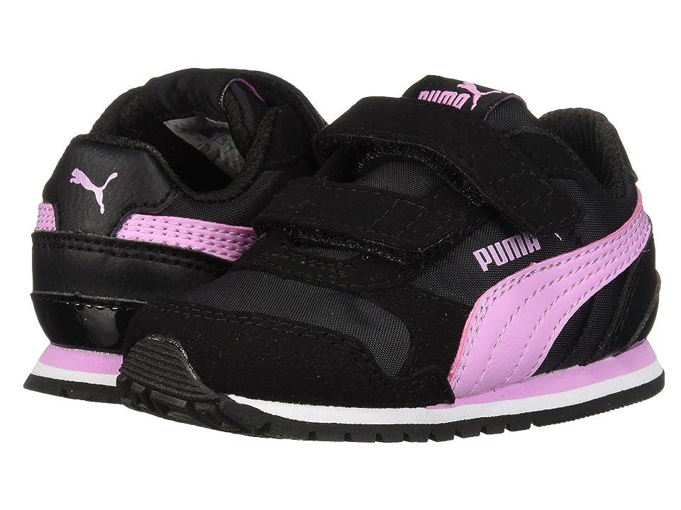 Puma Kids ST Runner v2 NL V (Toddler) (Puma Black/Orchid) Girls Shoes
