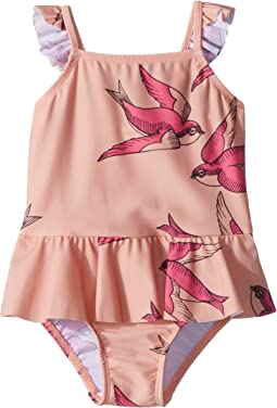 mini rodini - Swallows Skirt Swimsuit (Infant/Toddler/Little Kids/Big Kids)
