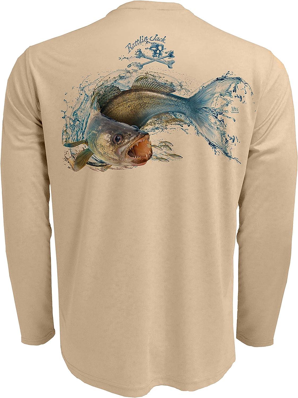 Rattin Jack Mens UPF 50 Fishing Long latest Sleeve Walleye Super sale period limited Shirt