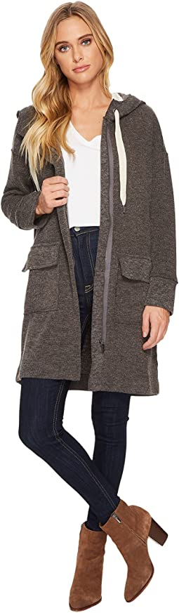 Splendid - Bowery Sweater Knit Jacket Zip Front with Hood and Double Pocket