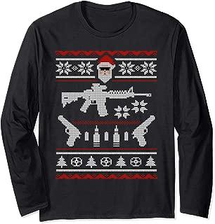 Funny Ugly Christmas Gun Shirt - Gifts for Gun Lovers