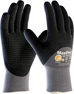 ATG 34-845/L MaxiFlex Endurance - Nylon, Micro-Foam Nitrile 3/4 Grip Gloves - Black/Gray - Large - 3 Pair Per Pack
