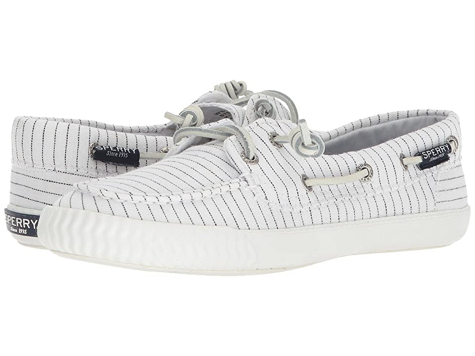 Sperry Sayel Away Pin Stripe (White/Black) Women