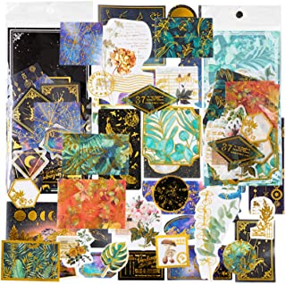 Stosts Vintage Stickers Papers Pack, 120pcs Scrapbooking Decorative Antique Retro Collection, Journal Diary DIY Embellishm...
