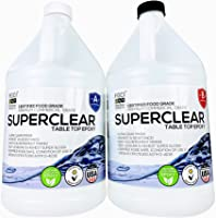 SUPERCLEAR Epoxy Resin Crystal Clear 2 Gallon Kit for River Tables, Live Edge Tables, Bar Tops, 2 Part Tabletop &...