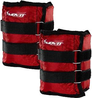 MOVIT® set van 2 gewichtsmanchetten voor polsen en enkels, 7 gewichtsvarianten, gewichten voor armen en benen 2x 0,5 kg - ...