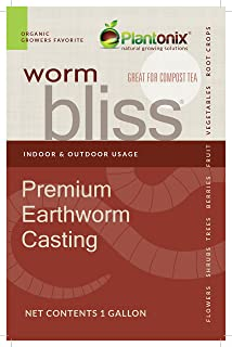 Worm Bliss Premium Vegan & Organic Earthworm Castings, (4 Quart)