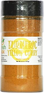 FreshJax Gourmet Spices and Seasonings, Turmeric Curry Yellow Large 4.4 oz