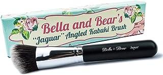 Foundation Brush - Angled Kabuki for Contouring And Applying Liquid - Powder and Cream Foundation - Vegan Friendly