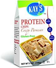 Kay's Naturals Protein Chips, Crispy Parmesan, Gluten-Free, Low Carbs, Low Fat, Diabetes Friendly, All Natural Flavorings, 5 Ounce (Pack of 6)