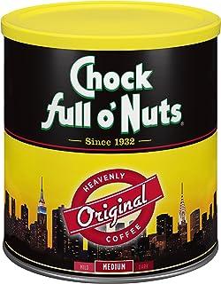 Chock Full o'Nuts Original Roast Ground Coffee, Medium Roast - 100% Premium Coffee Beans – Smooth, Full-Bodied Medium Blend with A Rich Flavor (30.5 Oz. Can)
