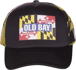Old Bay Seafood Seasoning Licensed Mesh Flag Adjustable Baseball Hat Cap