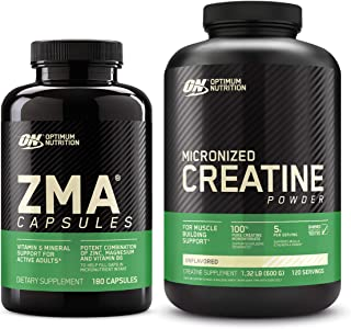 Optimum Nutrition ZMA Muscle Recovery and Endurance Supplement for Men and Women, Zinc and Magnesium Supplement with Micro...
