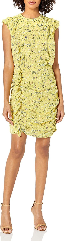 Sugar Lips Women's Nola Floral Print Ruched Mini Dress