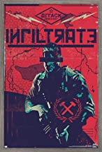 """Trends International Call of Duty: Black Ops Cold War - Infiltrate Wall Poster, 22.375"""" x 34"""", Barnwood Framed Version"""