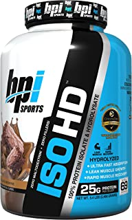 BPI Sports ISO HD 100% Protein Isolate & Hydrolysate, Chocolate Brownie, 5.4 Pound