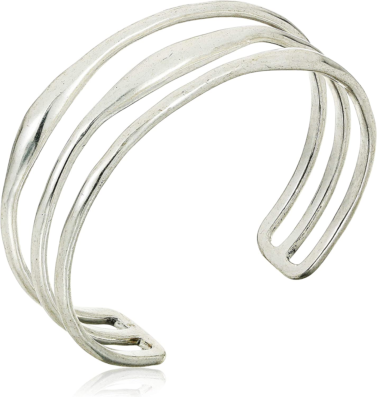 Lucky Brand Women's Simple Life Bar Cuff Bracelet, One Size
