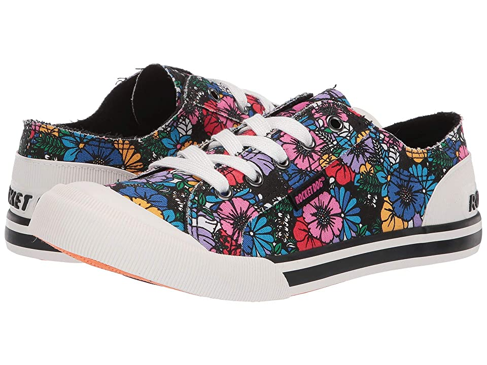 Rocket Dog Jazzin (Black Multi Flower Frenzy) Women's Lace up casual Shoes