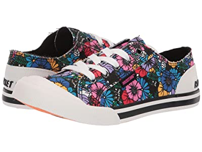 Rocket Dog Jazzin (Black Multi Flower Frenzy) Women