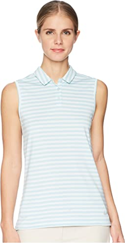 Dry Sleeveless Striped Polo