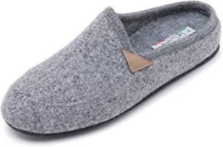 Le Clare Casies Men's Italian Wool Felt Slippers