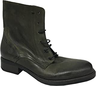 WHY NOT Stivale Basso Donna con Lacci Verde MOD Valerie 100% Pelle Suola in Gomma Made in Italy