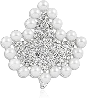 Sparkling Faux Pearl and Rhinestone Ivy Brooch