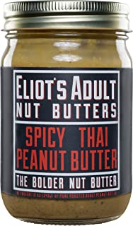 Eliot's Adult Nut Butters Spicy Thai Peanut Butter, Non-GMO, Gluten Free, Vegan, Keto and Paleo Friendly, 12 Ounce