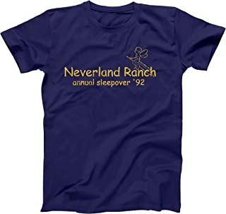Neverland Ranch Annual Sleepover Funny Retro Camping Hip Urban Cool Old School MJ Humor Mens Shirt