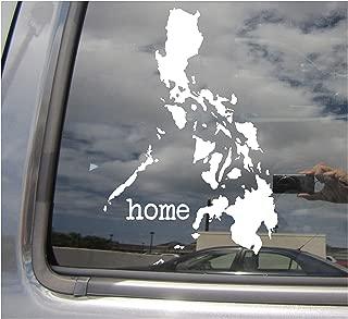 Philippines Home Islands Country - Filipino Manila Visayan Tagalog Ilocano Balut - Cars Trucks Moped Helmet Hard Hat Auto Automotive Craft Laptop Vinyl Decal Store Window Wall Sticker 07105