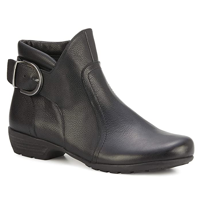 Walking Cradles Ender (Black Tumbled Leather) Women's Boots