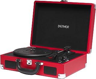 Tocadiscos Denver VPL-118RED de Tres velocidades 33 1/3,45,