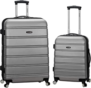 Luggage 20 Inch 28 Inch 2 Piece Expandable Spinner Set, Silver, One Size